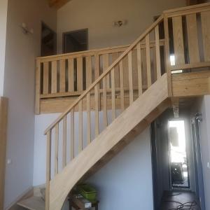 escalier bois font romeu